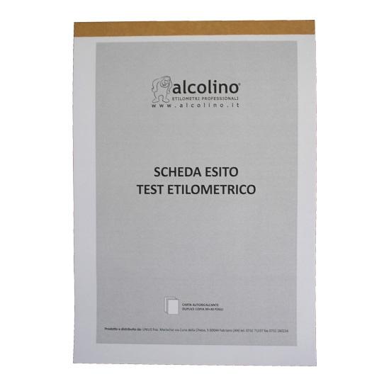 Blocco Carta Chimica Test Etilometrici